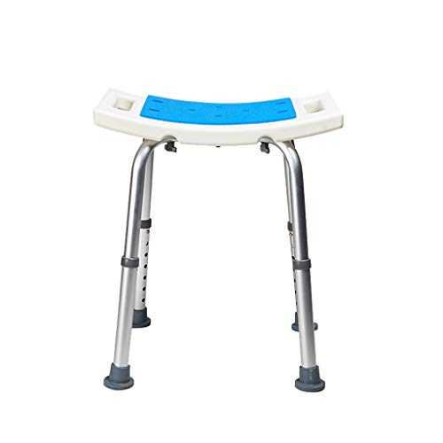 Bath Chair Shower Stool Non-slip Bath Stool, Adjustable Height with Armrests Shower Seat Bath Chair Bathroom Seat, for Injured People, Disabled People, Pregnant Women Bathroom Wheelchair Aids Adjustab