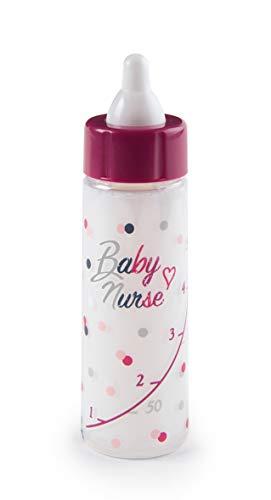 Smoby - Baby Nurse Magisches Milch-Fläschchen - Puppenflasche, Trinkflasche für Puppen mit magischer Milch, für alle Puppen, für Kinder ab 1 Jahren, Rosa, Lila