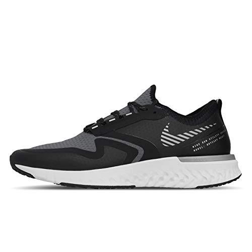 Nike Odyssey React 2 Shield, Scarpe Running Uomo, Black/Metallic Silver/Cool Grey, 42 EU