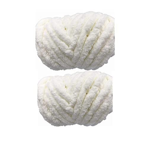 Super Bulky Extra Thick Blanket Fluffy Soft Jumbo Gauge Yarn 16oz 2 Packs...