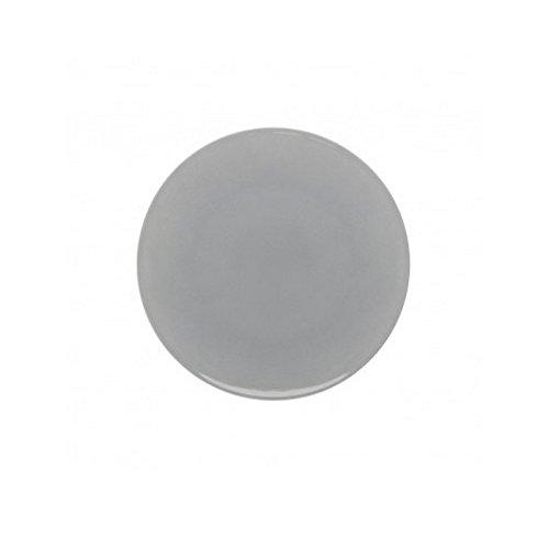 DEGRENNE - Modulo Color lot de 6 assiettes à dessert ronde 23 cm, porcelaine - Gris perle