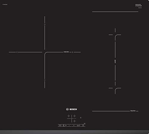 Bosch Electroménager PVJ631BB1E - Série 4 Table induction encastrable - 3 foyers vitrocéramique - Puissance 7400 W - 60 cm - Noir
