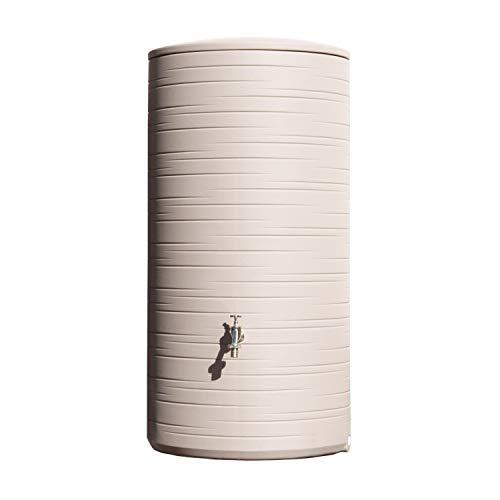 Regentonne Regenwassertank Novara 285 Liter taupe aus UV- und witterungsbeständigem Material. Regenfass bzw. Regenwassertonne mit kindersicherem Deckel und hochwertigen Messinganschlüssen