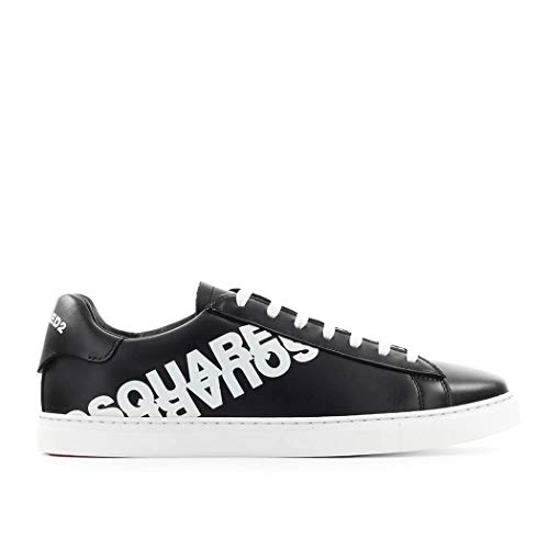 DSQUARED2 Sneaker New Tennis Nero Bianco SS 2020 44