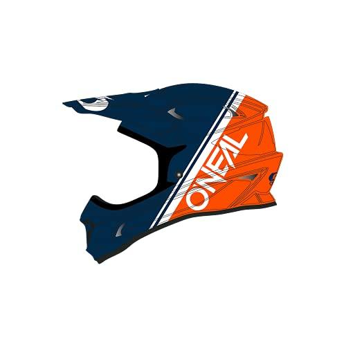 O'NEAL   Mountainbike-Helm   MTB Downhill   Nach Sicherheitsnorm EN1078, Ventilationsöffnungen für Luftstrom & Kühlung, ABS Außenschale   SONUS Helmet SPLIT   Erwachsene   Blau Orange   Größe M