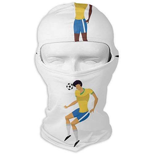 NOBRAND Volledige Gezicht Masker Vrouw Voetbal Spelers Set In Actie Hood Zonnebrandcrème Masker Dubbele Laag Koud Voor Mannen En Vrouwen