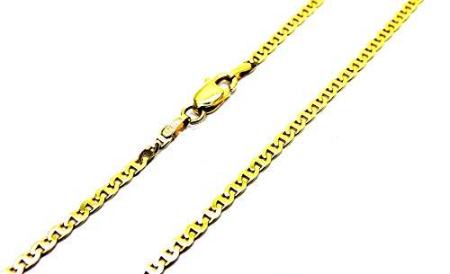 Collana Oro Giallo 18kt (750) Girocollo Traversino Classico Collier Donna Cm 42