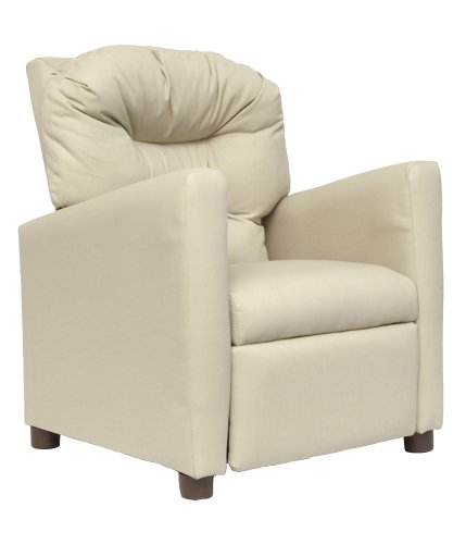 Ace Bayou Juvenile Recliner Khaki Fabric Tufted Traditional