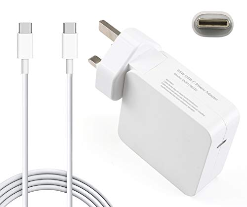 65W USB Type C Power Adapter Charger for Apple Macbook Pro/Air, Works With USB-C 61W/30W/29W Power Delivery Fast Charging Compatible with Macbook Pro 13'' 15'' 2016 Late MacBook Air 2018 Late