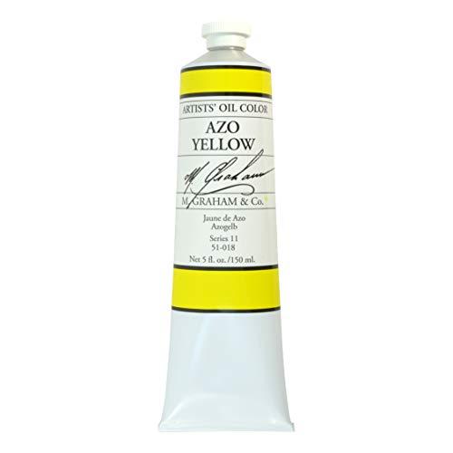 M. Graham Artist Oil Paint Azo Yellow 5oz Tube
