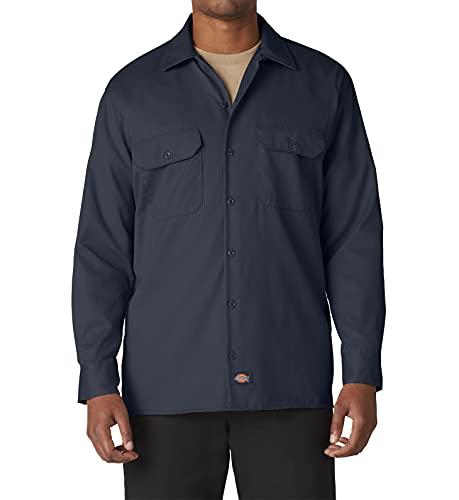 Dickies Streetwear Male Shirt Long Sleeve Work Sweat, Bleu (Dark Navy), Large Homme