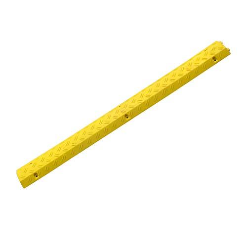 SZQ-Rampes Petit trunking jaune, panneau de protection simple de fente de sertissage de câble de bureau de site d'intérieur de supermarché Rampes (Size : 100 * 10 * 2CM)