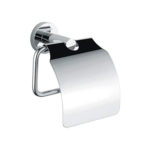 GRIFEMA Ibiza - Portarrollos con tapa, soporte para papel, accesorios de baño, Latón, Cromo [Exclusivo en Amazon]