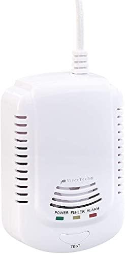 VisorTech Gasmelder Wohnwagen: Multi-Gasmelder für haushaltsübliche Gase, mit 3 Funktions-LEDs, 85 dB (Gasmesser)