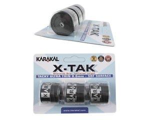 Karakal X-TAK Overwrap Grip - Tenis/Squash/Bádminton/Tenis de mesa (negro)