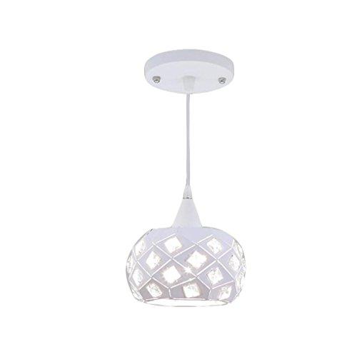 FANJIANI LED-kroonluchter eenvoudige moderne single head lamp drie koppen woonkamer licht thee winkel café restaurant klein wit warm licht optioneel