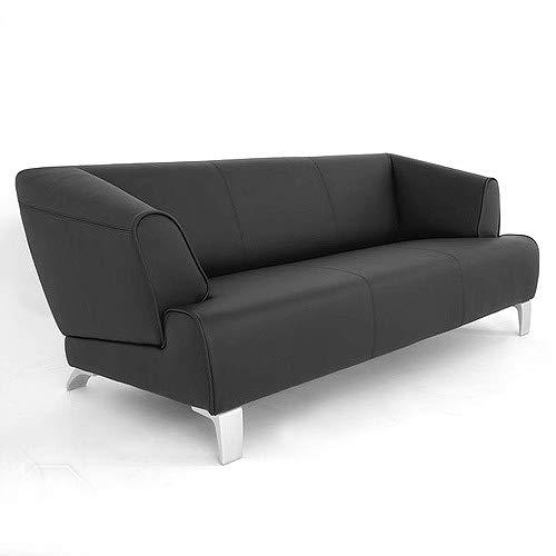 Möbel Akut Sofa SOB 2300 von Rolf Benz Leder schwarz 3 Sitzer Couch Sofabank 195 cm breit