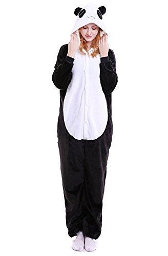 DPIST Kigurumi Pijama Animal Entero Unisex para Adultos Niños con Capucha Ropa de Dormir Traje de Disfraz para Festival de Carnaval Halloween Navidad