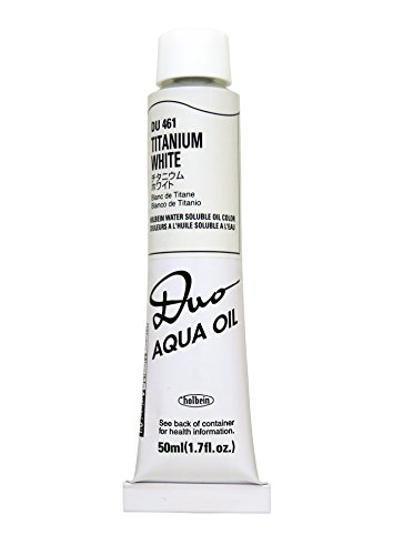 Holbein Water-Soluble Oil Color Titanium White 50 ml tube