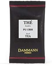 Pasticceria Passerini dal 1919 Dammann Sombre PU-Erh - Té Oscuro aromatizado con ruibarbo y Fresa, 24 bolsitas - Dammann Frères
