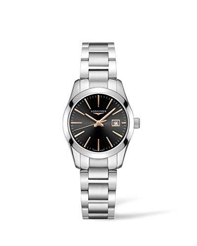 Longines orologio Conquest Classic 29,5mm nero acciaio quarzo L2.286.4.52.6