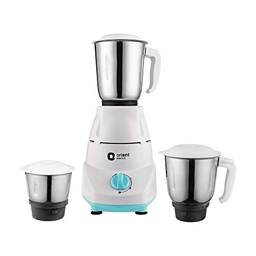 Orient Electric Kitchen Kraft MGKK50B3 Mixer Grinder, 500W, 3 Jars (White)