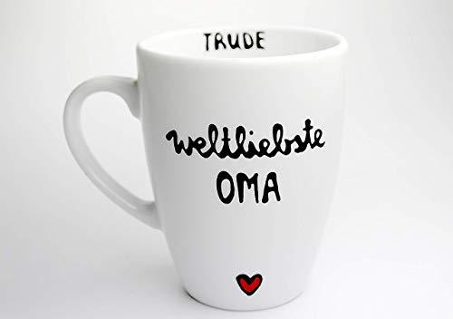 Geschenk für Oma, Tasse, Tasse mit Spruch, Weltliebste Oma, Geschenk Großmutter