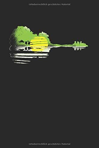 Gitarren Landschaft | Notizheft/Schreibheft: Gitarren Notizbuch Mit 120 Gepunkteten Seiten (Dotgrid). Als Geschenk Eine Tolle Idee Für Gitarristen, Musiker Oder Band Mitglieder