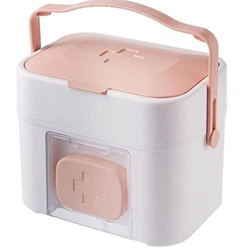 Froiny 1 Pc Medicina Caja Almacenamiento Plástico 2 Capa Kit Médico Gran Capacidad Organizador Montado En Pared con Asa