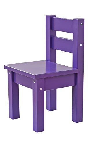 Hoppekids Mads Chaise pour Enfant en MDF, Bois, Violet