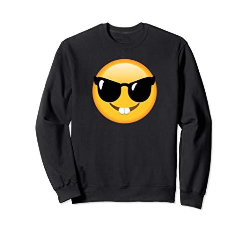 Emoticon, lustig, Gesicht, Nerd-Brille, glückliches Gesicht Sweatshirt