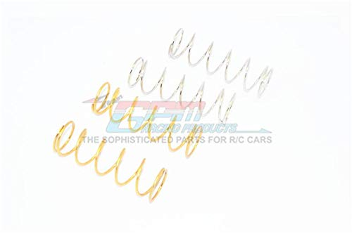 Spare Springs for Front/Rear Dampers (Sutiable for 1/10 Traxxas Maxx Original Dampers and GPM Optional Dampers) - 4Pc Set Gold+Silver