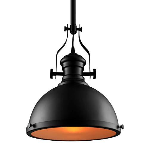 YUNZHI Hierro Forjado Fixture 12.6 Pulgadas de Ancho Negro luz Pendiente clásico del Accesorio de iluminación Industrial antienvejecimiento Temperatura Anti-Alto