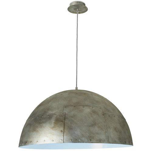 Leds-c4 neo Suspension 3 ampoules E27 60 W Argent rustique/bleu