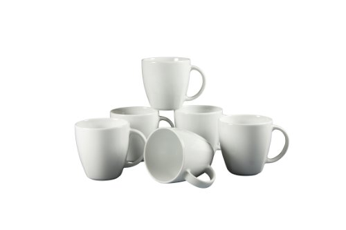 CreaTable 12328, Serie Victoria weiß, Geschirrset Kaffeebecher 30cl 6 teilig