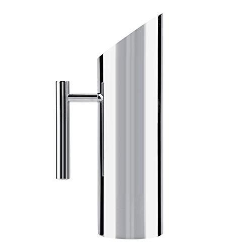 Carafe à eau en acier inoxydable avec blocage de glaçons pour maisons, hôtels, Acier inoxydable, 1.5L