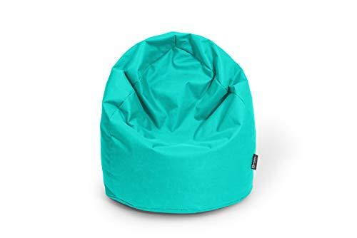 BuBiBag Sitzsack Tropfenform Beanbag Sitzkissen für In & Outdoor XL 300 Liter bis XXXL 470L mit Styropor Füllung in 23 versch. Farben (XL, türkis)
