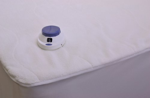 Serta Luxurious Plush Top Low-Voltage Electric Heated Full Mattress Pad, White