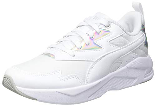PUMA Damen X-ray Lite Metallic Wmn S Sneaker, Weiß - Puma Weiß Puma Weiß Puma Silber - Größe: 40 EU