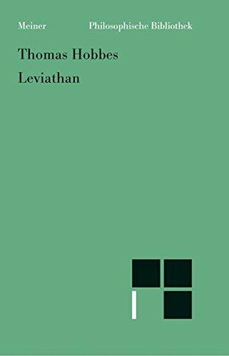 Leviathan (Philosophische Bibliothek)