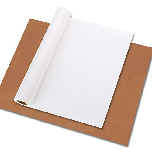ProCase Heat Transfer Vinyl Roll (12 pulgadas x 12 pies) para Máquinas de Prensa de Calor como Cricut Silhouette Cameo, Personalizado Dibujo o Lema DIY para T Shirt Camiseta Ropa Bolsa de Lona -Blanco