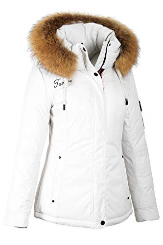 Grimada TARORE 9M15M dames winterjas ski-jack in dons-look met echte bont capuchon