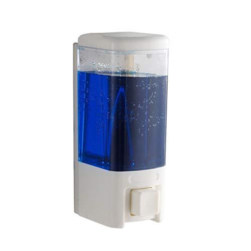 XILIN-1987 Dispensador de jabón de cocina montado en la pared para el hogar, dispensador de jabón manual para hotel, dispensador de jabón para encimera, (color: blanco, tamaño: 480 ml-1room)