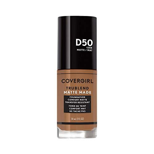 Covergirl Trublend Matte Made Liquid Foundation, D50 Deep Golden, 1.014 Fl Oz