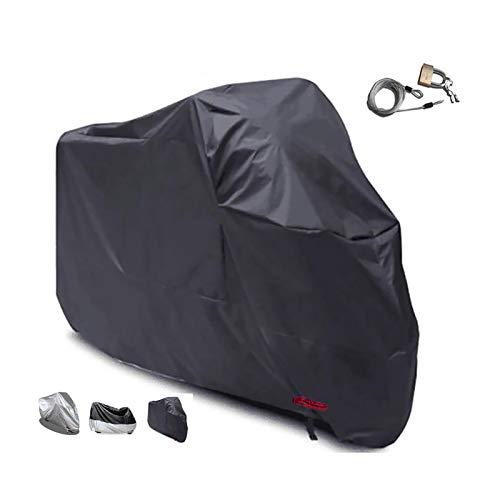 HWHCZ Fundas para Motos Compatible con la Cubierta de la Motocicleta POLINI 911 Aire 6,210D Oxford con la PU de la Cubierta Moto antirrobo Revestimiento Impermeable, Interior/Exterior