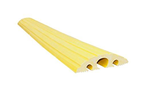 UvV UVVKB100 Kabelbrücke gelb 1500 mm lang, Überfahrschutz, Elektrokabelschutz, befahrbar, überfahrbar 1500mm mit 3 Kabelöffnungen 2x20 und 1x45 mm