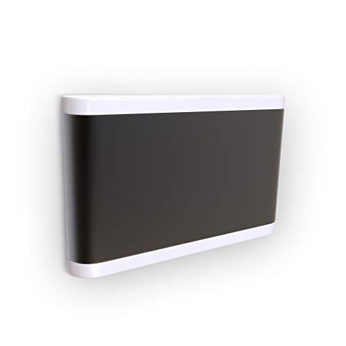 B.K.Licht Aplique exterior I Resistente a la intemperie I Luz blanca natural 4.000K I Impermeable IP44 I Lámpara de pared 7W I Iluminación ambiental en la terraza y balcón