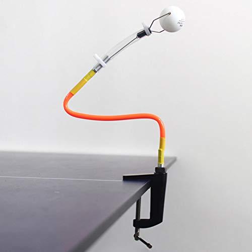 Robot de Entrenamiento Profesional de Tenis de Mesa, máquina de Pelota de Ping Pong de Rebote rápido, Entrenamiento de Tenis de Mesa (Tubo Amarillo) (en Caja)