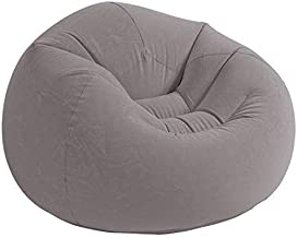 Intex 68579 Inflatable Beanless Bag Air Chair, Gray