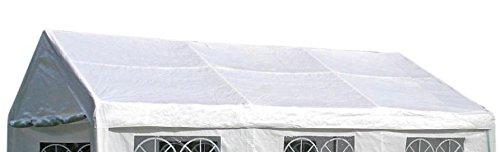 DEGAMO Ersatzdach Dachplane für Zelt 4x6 Meter, PE Weiss 180g/m², incl. Spanngummis …
